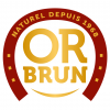 logo or brun couleurs